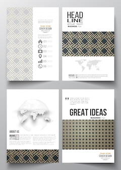 Business templates for brochure, flyer, report