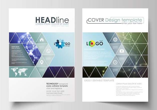 Business templates for brochure, magazine, flyer, booklet or report.