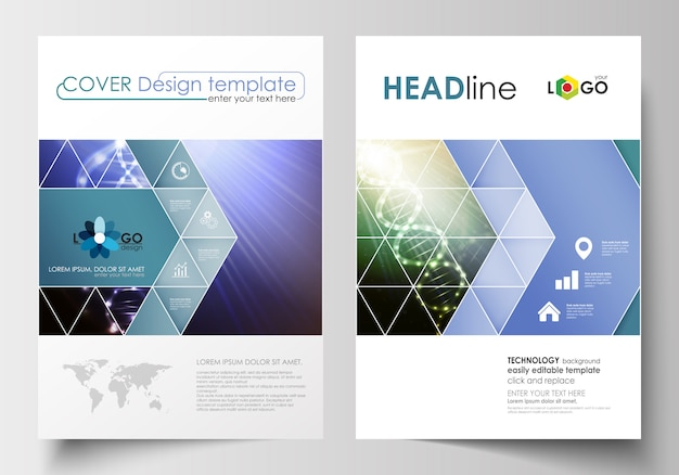 Business templates for brochure, magazine, flyer, booklet or report