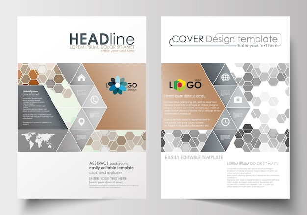 Business templates for brochure, magazine, flyer, booklet.