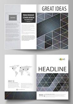 Бизнес-шаблоны для двухслойной брошюры