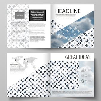 Бизнес-шаблоны для двухслойной квадратной брошюры