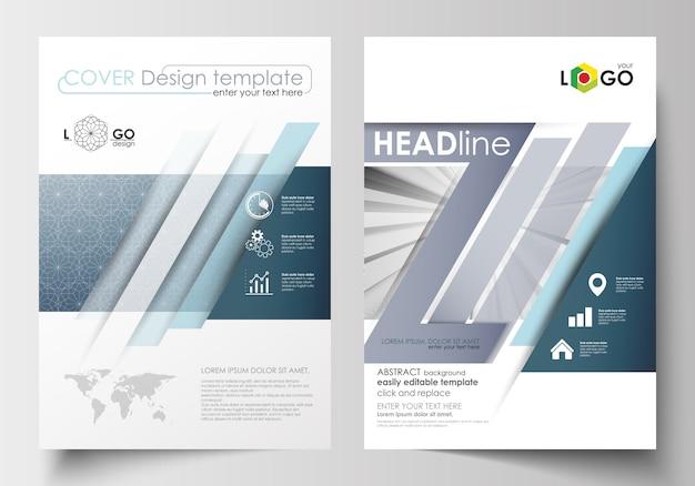 パンフレット、雑誌、チラシ、小冊子のビジネステンプレート。表紙デザインテンプレート