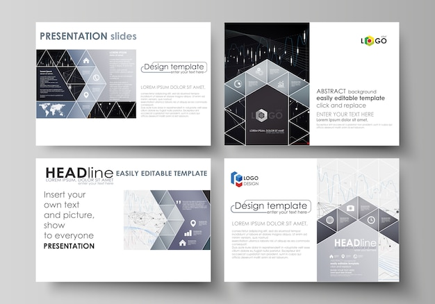 Бизнес-шаблоны для слайдов презентации.