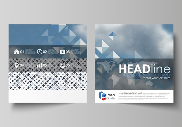 Бизнес-шаблоны для квадратной брошюры