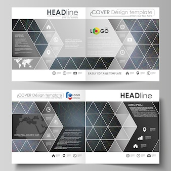 Бизнес-шаблоны для квадратного дизайна складной брошюры