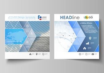 Бизнес-шаблоны для квадратного дизайна брошюры,