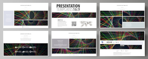 Business templates in hd format for presentation slides