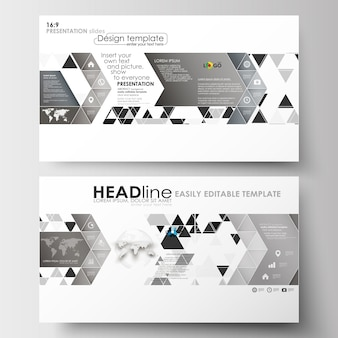 Business templates in hd size for presentation slides. abstract triangle design background