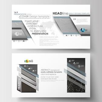 프리젠 테이션 슬라이드 용 hd 형식의 비즈니스 템플릿.