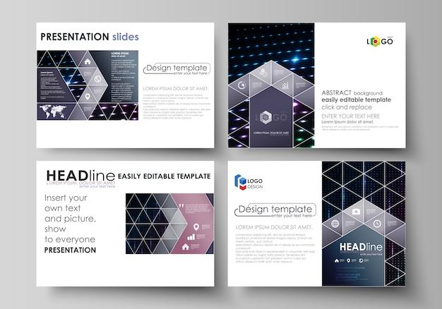 Business templates for presentation slides