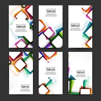 다채로운 사각형으로 설정하는 비즈니스 템플릿