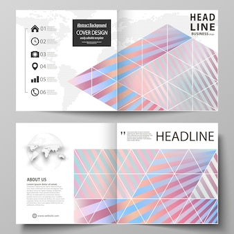 Business templates for square bi fold brochure