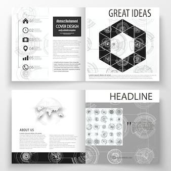 Business templates for square bi fold brochure