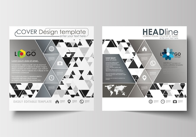 Business templates for square brochure, magazine, flyer, booklet or report. leaflet cover