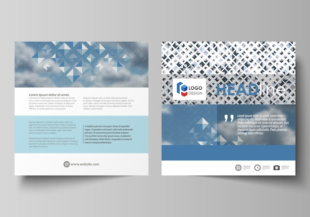 Business templates for square brochure, magazine, flyer, booklet.