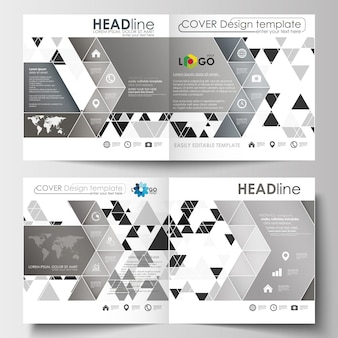 Business templates for square design brochure, magazine, flyer, booklet or report.