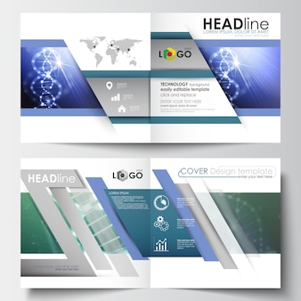 Business templates for square design brochure, magazine, flyer, booklet.