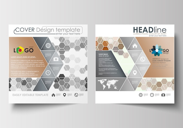 Business templates for square design brochure, magazine, flyer, booklet