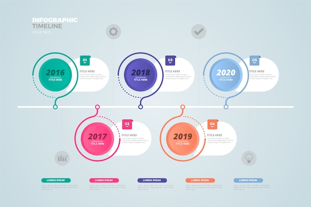 Business timeline infographic flat design