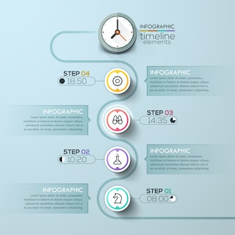 Business timeline infographic template.