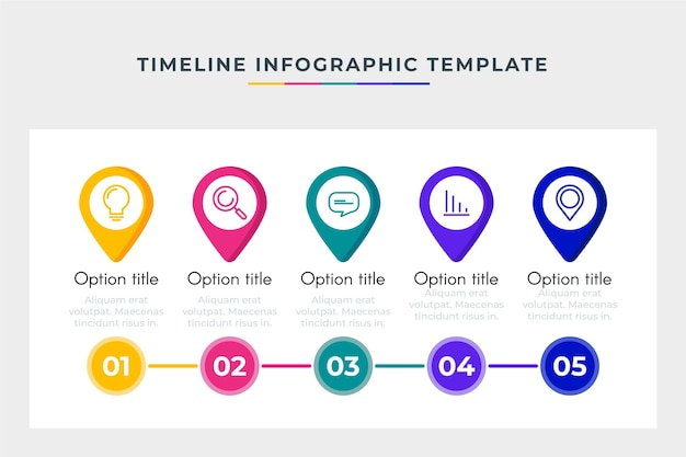 Business timeline template infographic
