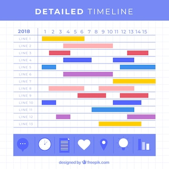 Business timeline template with infographic style