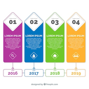 Business timeline with flat design