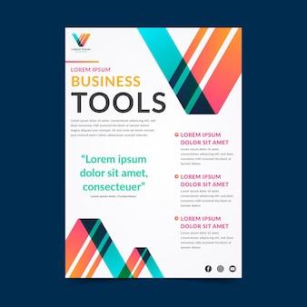 Шаблон флаера для бизнес-инструментов