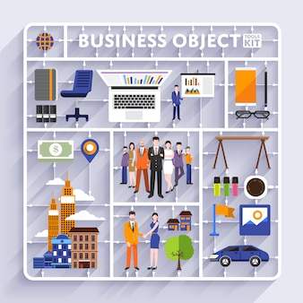 Business tools kit vector