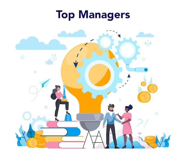 Business top management concept.