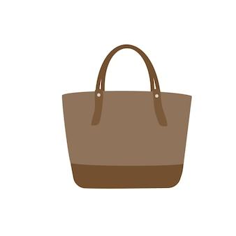 Деловая сумка-тоут плоский дизайн иллюстрации изолирован
