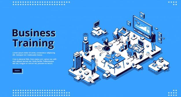 Бизнес обучение баннер. конференция, семинар и лекция для командного обучения
