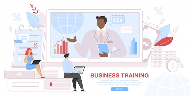 Business training event, remote corporate teaching