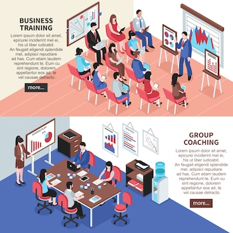 Business training and group coaching banners