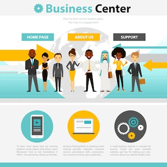 Business training web page infographics