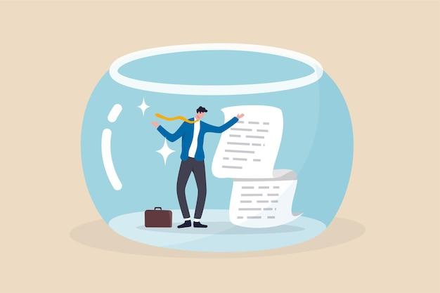 비즈니스 투명성, 무결성 또는 데이터 공개 개념.