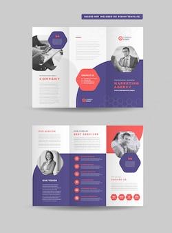 Бизнес три раза дизайн брошюры | три сложенных флаера | раздаточный дизайн