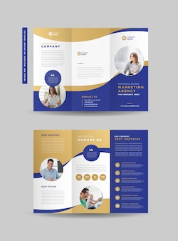 Business tri-fold brochure design | three folded flyer | handout design