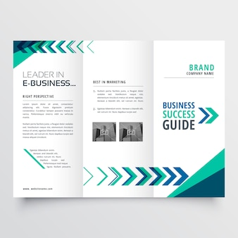 Business tri fold brochure template design