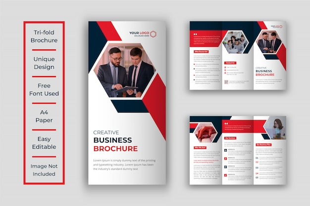Бизнес три раза дизайн шаблона брошюры