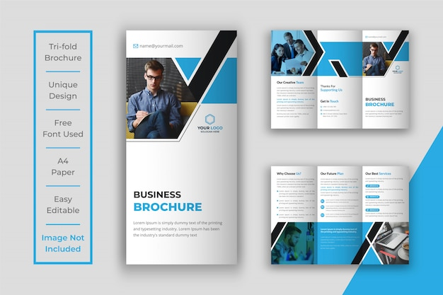 Business tri-fold brochure template design