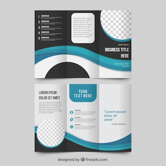 Business trifold in abstract style