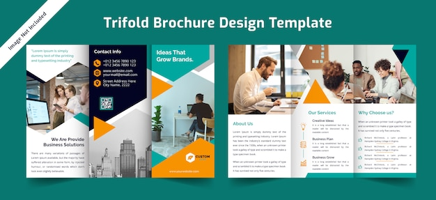 Business  trifold brochure design template