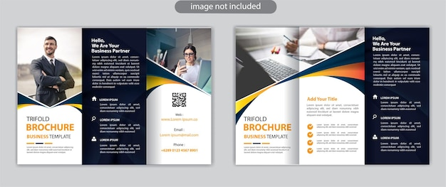 Business trifold brochure layout design template