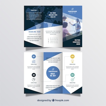 Business trifold in flat style