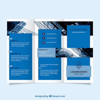 Business trifold flyer template