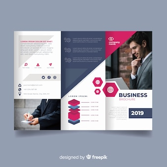 Business trifold flyer