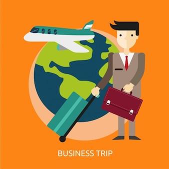 Business trip background design
