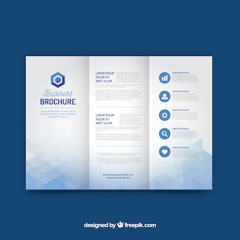 Business triptych template